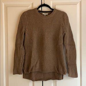 Madewell Camel Crewneck Sweater